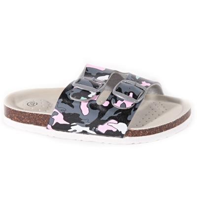 Dětské pantofle Army růžové - 1