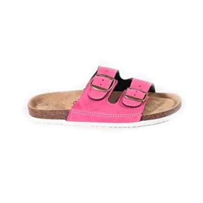 Páskové korkové pantofle Alice tmavě růžové - 1