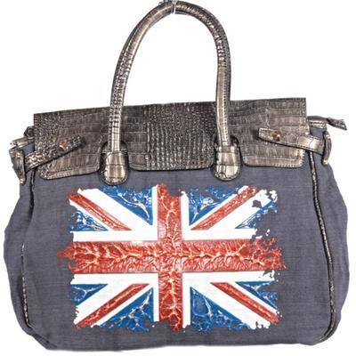 Trendy černá kabelka Vilda motiv England 1G - 1