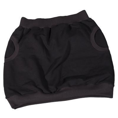 Černá bavlněná sukně Dominika