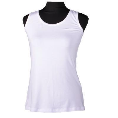 Bílé tričko s širokými ramínky Jolana - 1