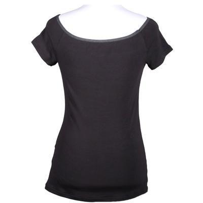 Černé tričko s krátkým rukávem Marika - 1