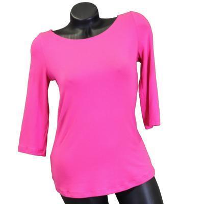 Růžové tričko s midi rukávem Klaudie - 1