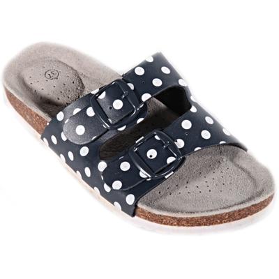 Retro dámské pantofle Leny modré - 1