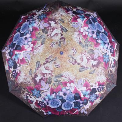 Skládací dámský deštník Megan fialový - 1
