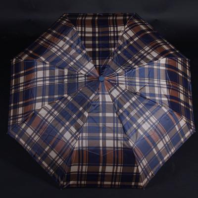 Pánský skládací deštník Alan hnědý - 1