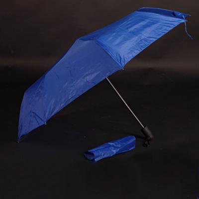 Jednobarevný skládací deštník Lejla světle modrý - 1
