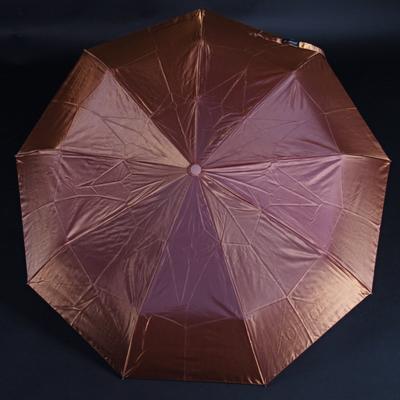 Luxusní dámský skládací deštník Darsi hnědý - 1