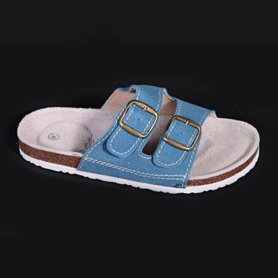 Dámské páskové korkové pantofle Tana sv. modré