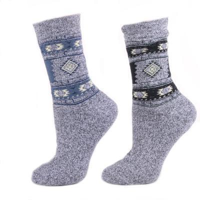 Dámské zimní ponožky D2d modré