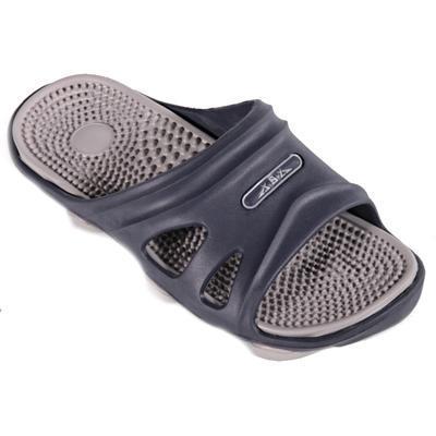 Pánské gumové pantofle Tomas šedé - 1