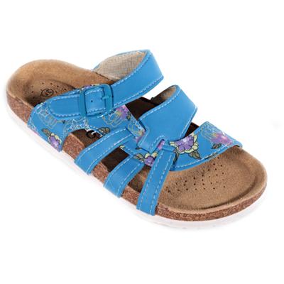 Květované pantofle Bruno modré - 1