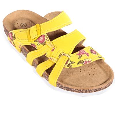 Dámské květované pantofle Bruno žluté - 1