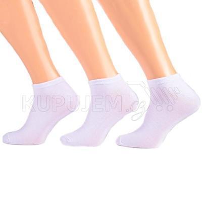 Pánské nízké ponožky z bambusu F3b bílé