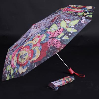 Skládací dámský deštník Megan červený - 1
