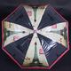 Automatický průhledný dámský deštník Dean červený - 1/2