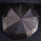 Luxusní dámský skládací deštník Kim tmavě hnědý - 1/2