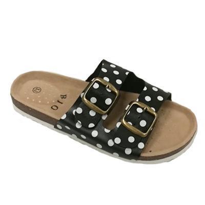 Retro dámské pantofle Leny černé