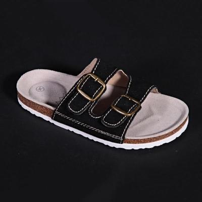 Dámské páskové korkové pantofle Nela černé