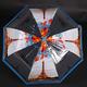 Automatický průhledný dámský deštník Dean modrý - 1/2