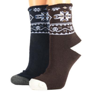Zdravotní zimní ponožky A2a hnědé