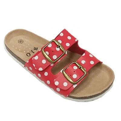 Retro dámské pantofle Leny červené