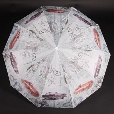 Stylový skládací deštník Cars modrý - 1