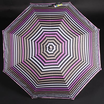 Pruhovaný deštník Dora hnědý - 1