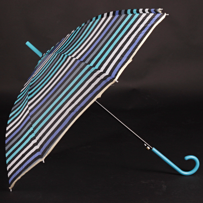 Pruhovaný deštník Dora modrý - 1