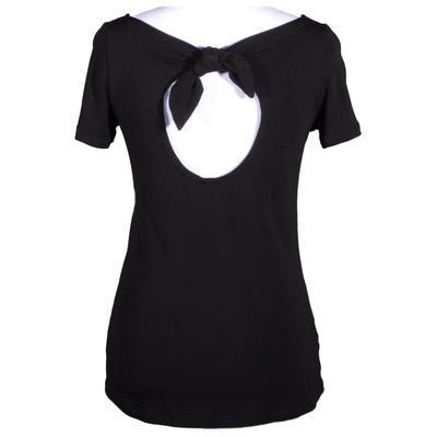 Černé tričko s krátkým rukávem Celestina - 1