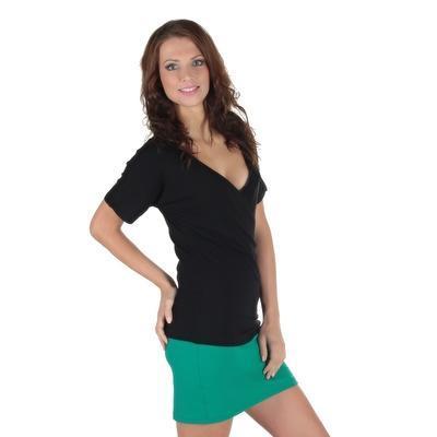 Černé tričko s krátkým rukávem Diana - 1