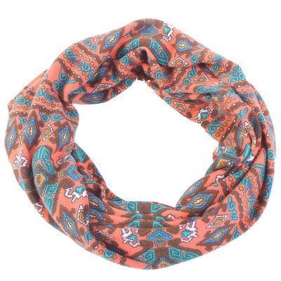 Růžový úpletový šátek Terry