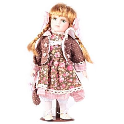 DOLL porcelánová panenka Emilie 30 cm