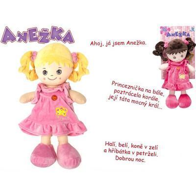 Hadrová panenka Anežka 36cm česky mluvící