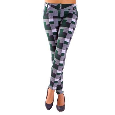 Kalhotové legíny Smokie zelené - 1