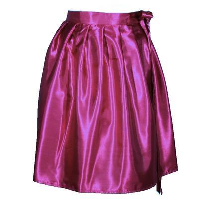 Tmavě růžová saténová zavinovací sukně Victorie - 1