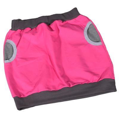 Růžová bavlněná sukně Rozalie - 1