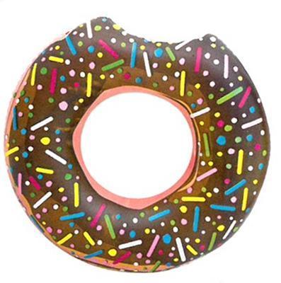 Nafukovací kruh 107cm Donut hnědý