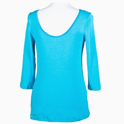 Modré tričko s midi rukávem Mia - 1