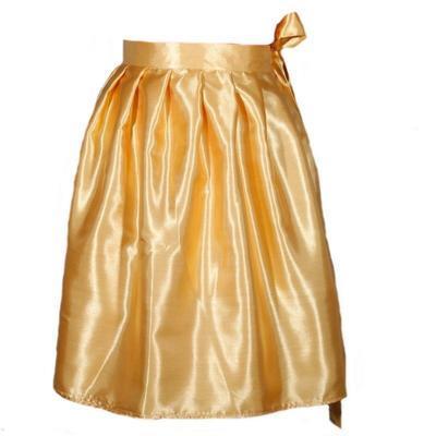Zlatá saténová zavinovací sukně Victorie - 1