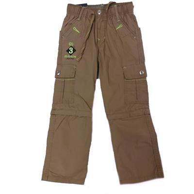 Chlapecké kalhoty 2v1 Boris hnědé - 1