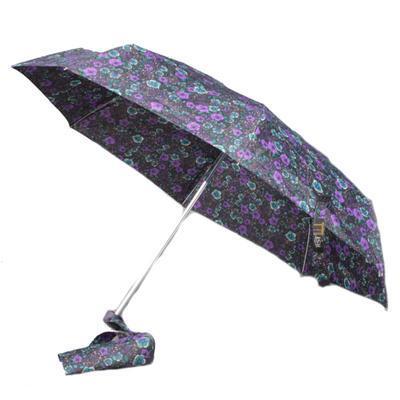 Dámský skládací deštník s potiskem květin Judita