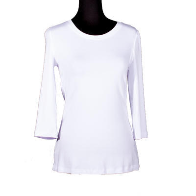Bílé tričko s midi rukávem Kristin - 1