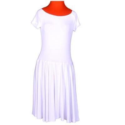 Bílé jednobarevné šaty Zaira - 1