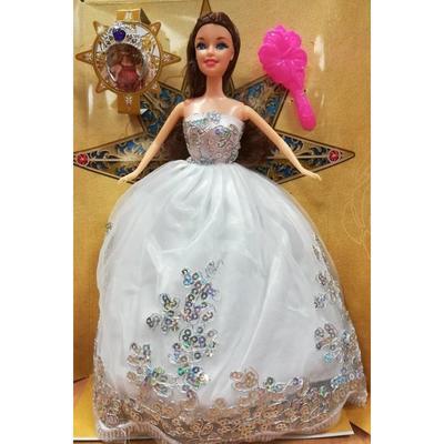 Kloubová panenka 29cm Mili v bílých šatech