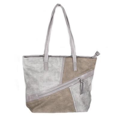 Luxusní šedá kabelka Malvina - 1