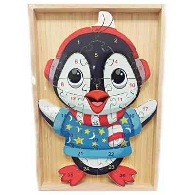 Dětské dřevěné puzzle Tučňák