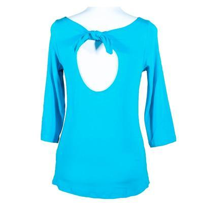 Modré tričko s midi rukávem Vanesa - 1