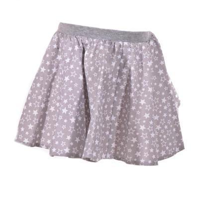 Dívčí šedá kolová sukně Elza s hvězdičkami - 1