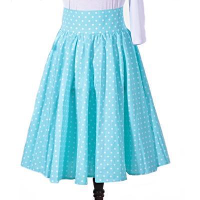 Dámská retro sukně Blue modrý puntík - 1